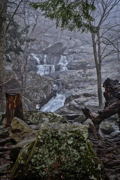 Photograph - Cunningham Falls In The Rain And Fog by Mark Dodd
