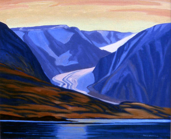 Wall Art - Painting - Cunningham Mountains Devon Island by Paul Gauthier