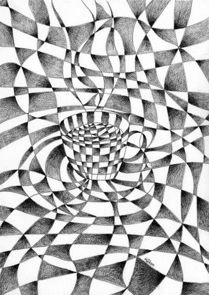Semi Abstract Drawing - Cup Of Coffee by Hakon Soreide