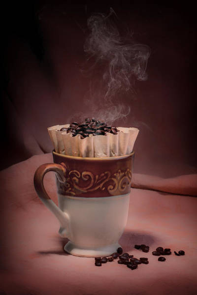 Tan Photograph - Cup Of Hot Coffee by Tom Mc Nemar