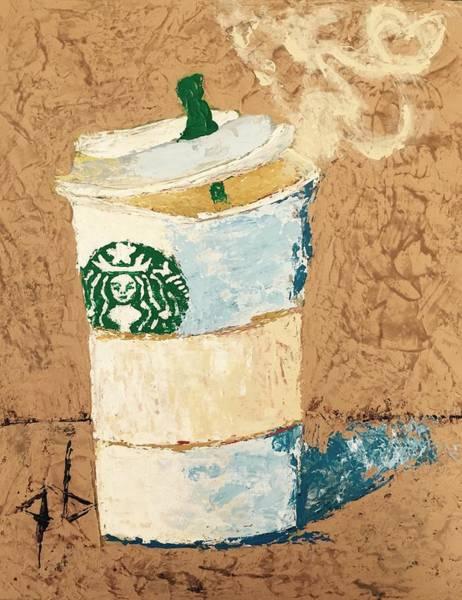 Coffee Painting - Cup Of Joe by George S Burtenshaw