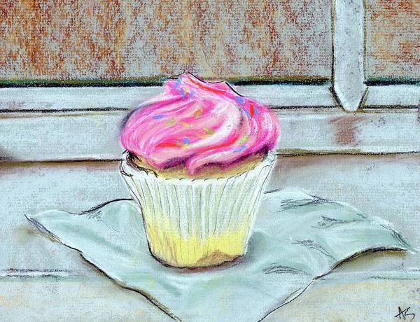 Swirl Drawing - Cupcake by Anne Seay