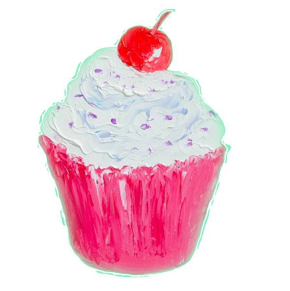 Icing Painting - Cupcake Painting by Jan Matson