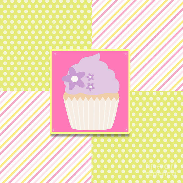 Digital Art - Cupcake by Pam  Holdsworth