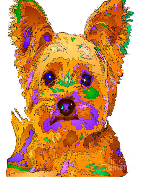 Digital Art - Cupcake The Yorkie. Pet Series by Rafael Salazar