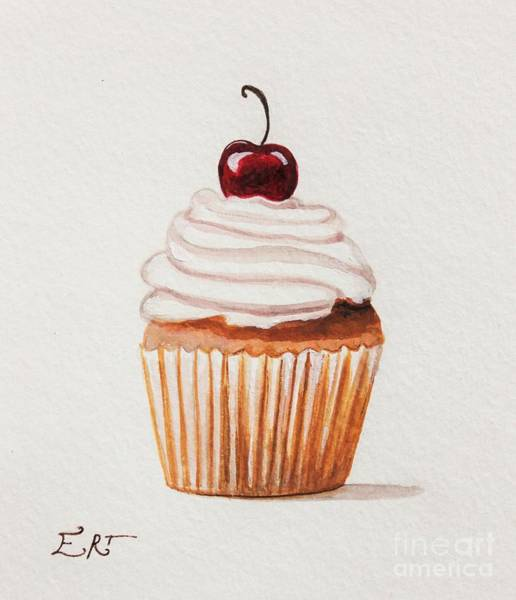 Painting - Cupcake With A Cherry On Top Please by Elizabeth Robinette Tyndall