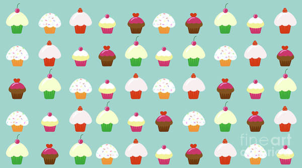Icing Digital Art - Cupcakes  by Kourai