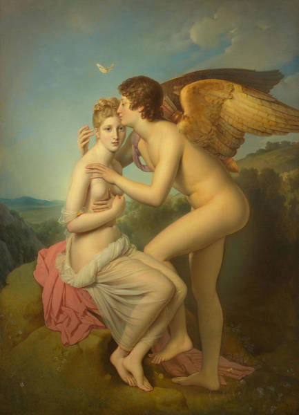Simon Wall Art - Painting -  Cupid And Psyche-workshop by Francois Pascal Simon Gerard