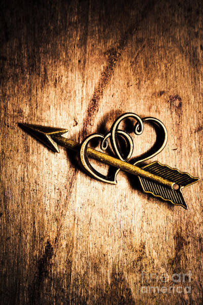 Symbol Photograph - Cupid Arrow And Hearts by Jorgo Photography - Wall Art Gallery