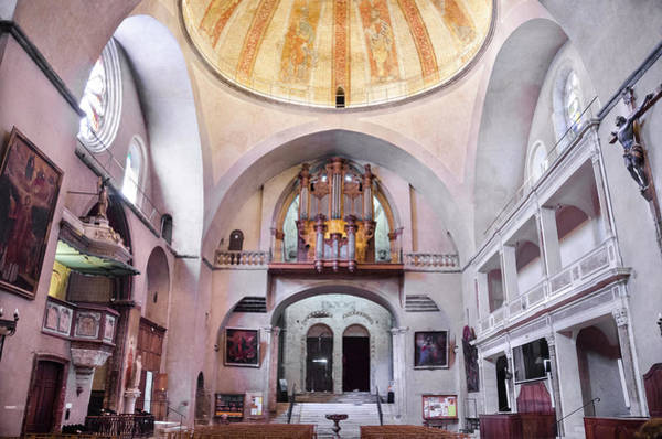 Wall Art - Photograph - Cupola And Organ In Cahors Cathedral by RicardMN Photography