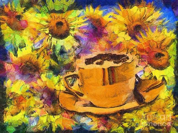 Digital Art - Cuppa Van Gogh 2015 by Kathryn Strick