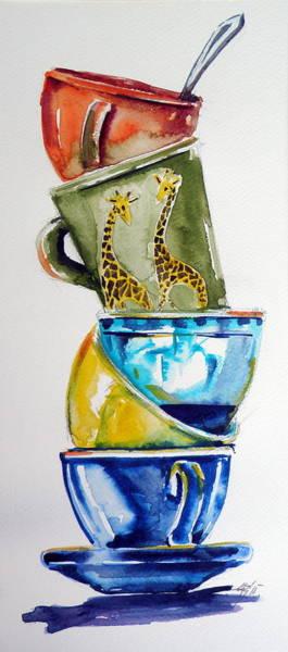 Wild Life Painting - Cups by Kovacs Anna Brigitta