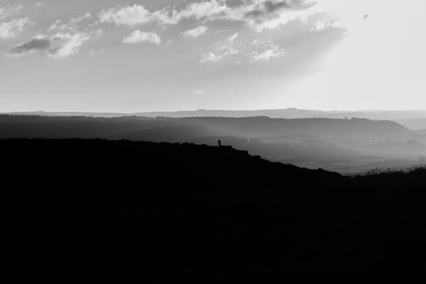 Photograph - Curbar Edge Alone On The Peak by Scott Lyons