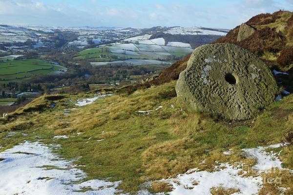 Photograph - Curbar Edge Millstone by David Birchall