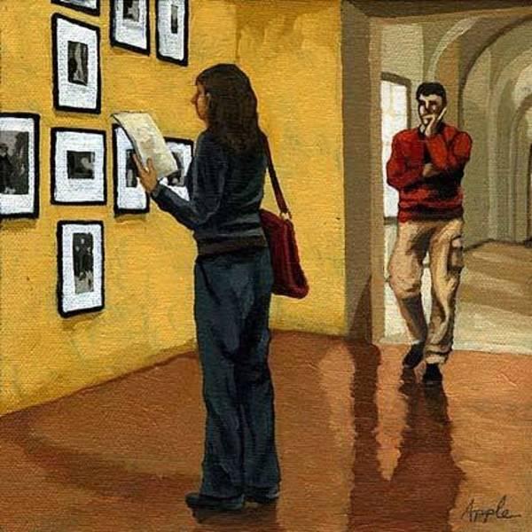 Wall Art - Painting - Curiosity by Linda Apple