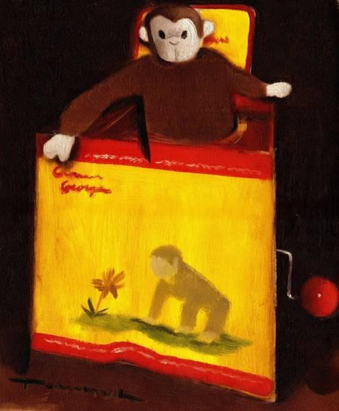 Curious George Still Life Jack In The Box  Art Print Art Print