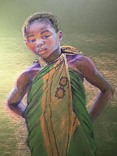 Wall Art - Painting - Curious In Tanzania by Susan Brooks