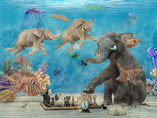 Wall Art - Digital Art - Curious Ocean by Betsy Knapp