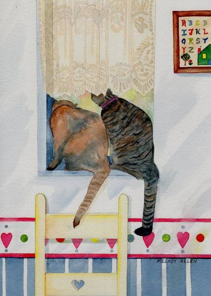 Wall Art - Painting - Curiousity by Melody Allen