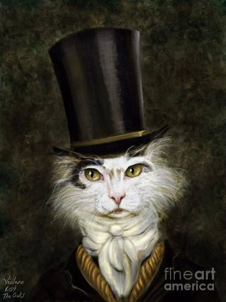 Wall Art - Painting - Curmudgeon Cat by Stella Violano