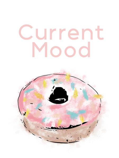 Current Wall Art - Mixed Media - Current Mood Donut- Art By Linda Woods by Linda Woods