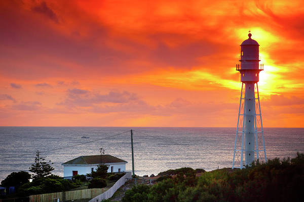 Wall Art - Photograph - Currie Lighthouse Sunset by Sean Davey