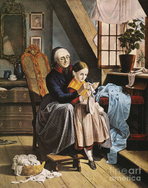 Photograph - Currier & Ives: Grandmother by Granger