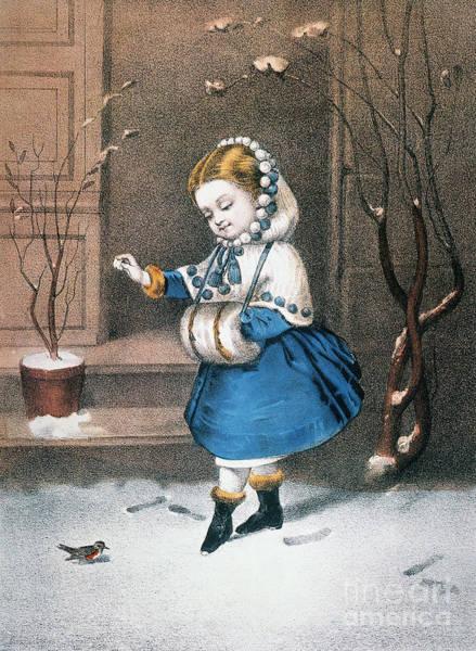 Photograph - Currier & Ives: Little Snowbird by Granger