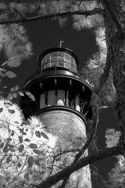 Photograph - Currituck Beach Lighthouse In Infrared by Liza Eckardt