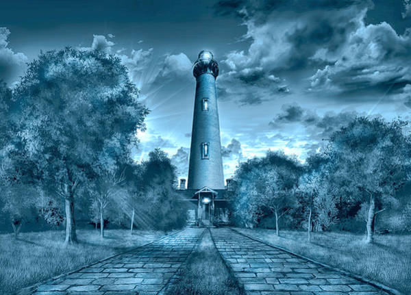 Wall Art - Painting - Currituck Beach Lighthouse by Bekim M