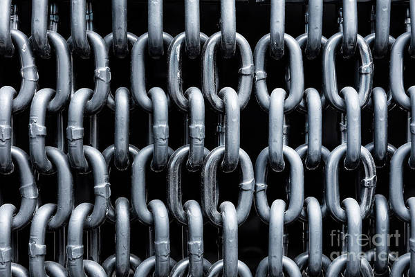 Chain Link Photograph - Curtain Of Silver Chains by Michal Bednarek