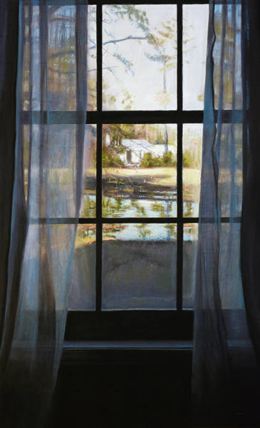 Pastel - Curtained Reflection by Christopher Reid
