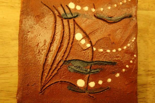 Ceramic Art - Curtains - Tile by Gloria Ssali