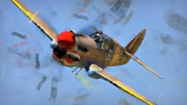 Painting - Curtis P-40 - 02 by Andrea Mazzocchetti