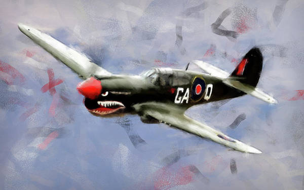 Painting - Curtis P-40 - 04 by Andrea Mazzocchetti