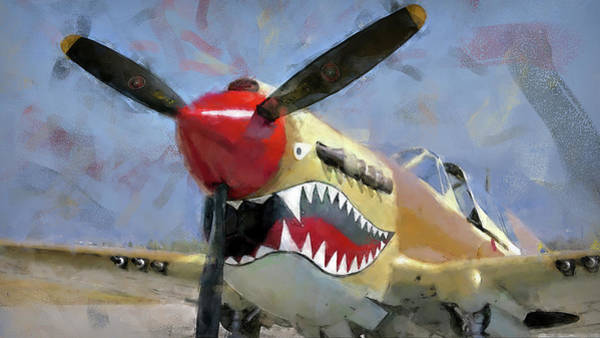 Painting - Curtis P-40 - 08 by Andrea Mazzocchetti