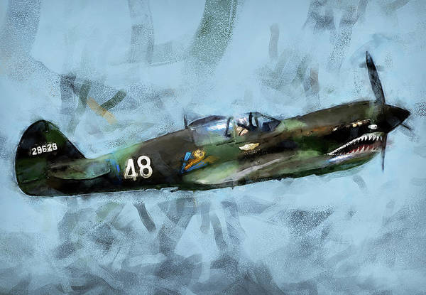 Painting - Curtis P-40 - 09 by Andrea Mazzocchetti
