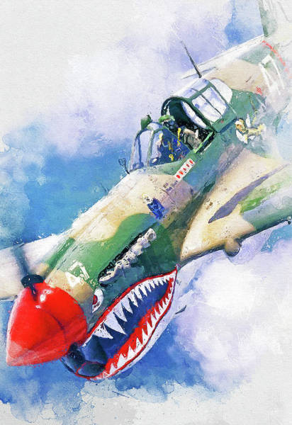 Painting - Curtis P-40 - 10 by Andrea Mazzocchetti