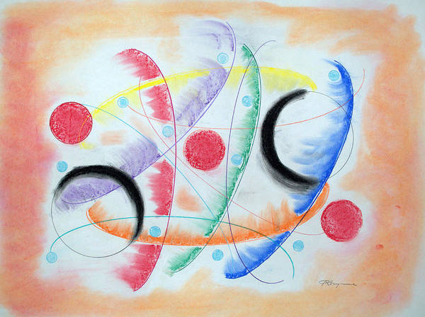 Abstract Expressionist Drawing - Curvature by J R Seymour