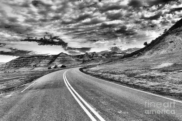 Wall Art - Photograph - Curve In The Badlands by Jeff Swan