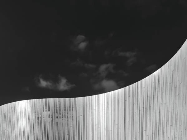 Greyscale Photograph - Curve Two by Wim Lanclus