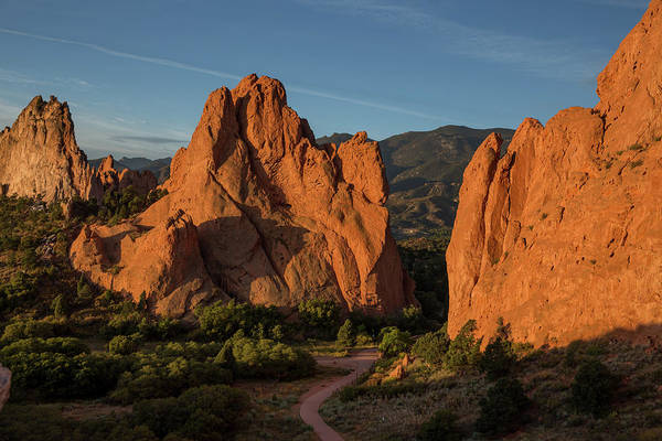 El Paso County Photograph - Curved Dirt Path At The Garden Of The Gods In The Morning by Bridget Calip