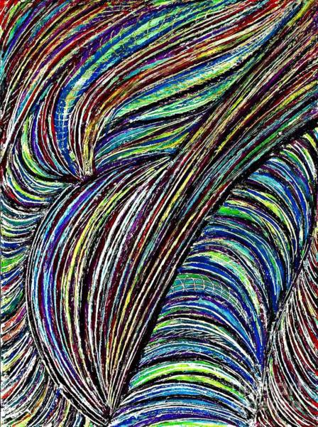 Swirl Drawing - Curved Lines 7 by Sarah Loft