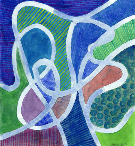 Similar Painting - Curved Paths by Heidi Capitaine