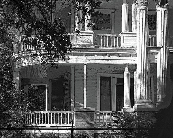 Photograph - Curved Porches B W by Connie Fox