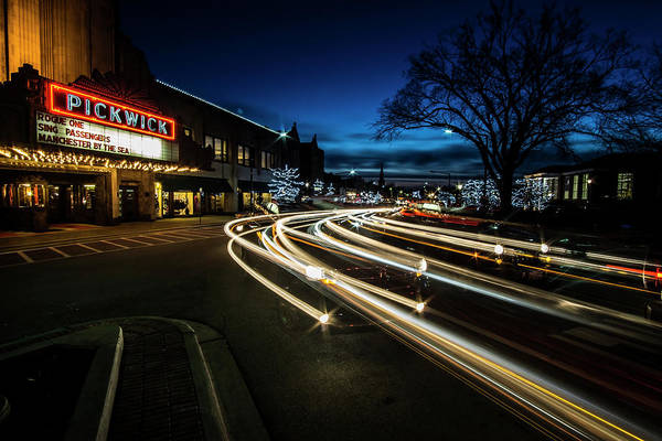Photograph - Curvy Night Time Traffic by Sven Brogren