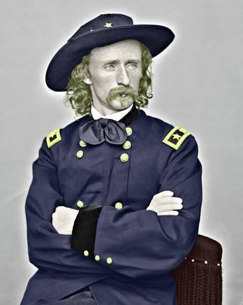 Photograph - Custer Color Portrait by John Feiser