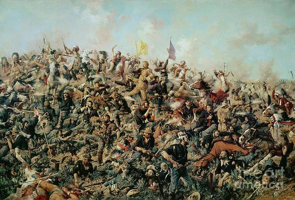 Wall Art - Painting - Custer's Last Stand by Edgar Samuel Paxson