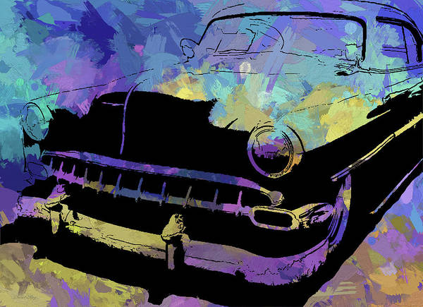 Digital Art - Custom 1954 Chevy Abs by David King