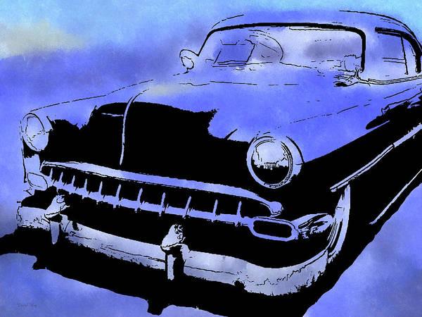 Digital Art - Custom 1954 Chevy Blue by David King